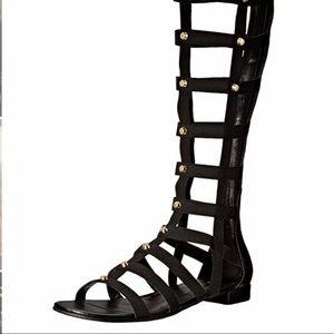 Marc Fisher Black Lexi Gladiator Sandals